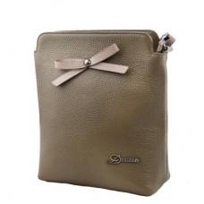 Женская кожаная сумка DESISAN (ДЕСИСАН) SHI1513-green