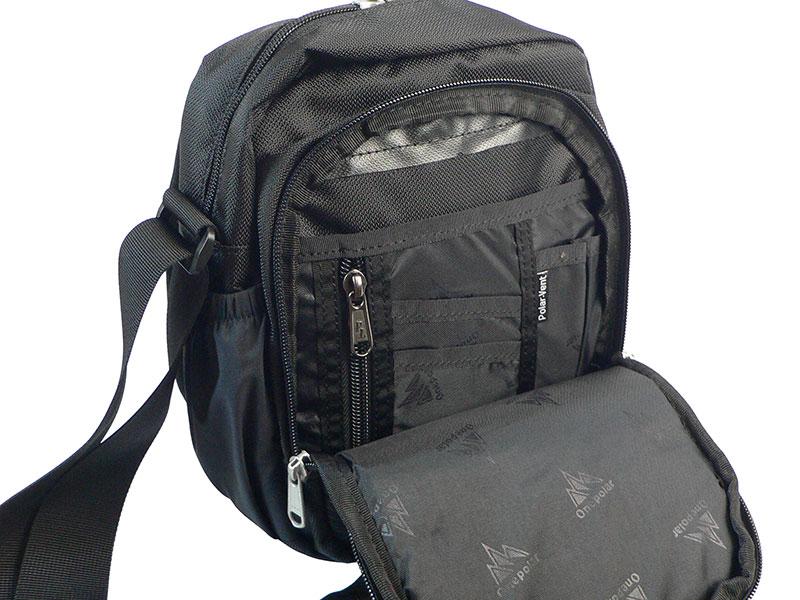 Мужская спортивная сумка ONEPOLAR (ВАНПОЛАР) W5631. Дополнительное отделение